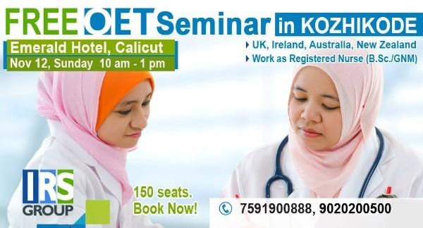IRS Group announces a free OET Seminar for all Health