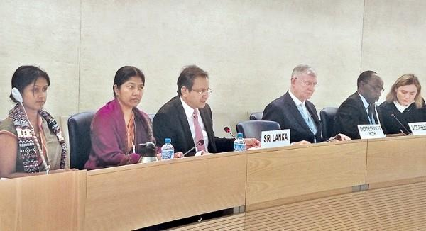 Lanka briefs UNHRC about progress made in implementing rights pledges