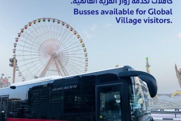 UAE- RTA operates four bus routes to serve Global Village visitors