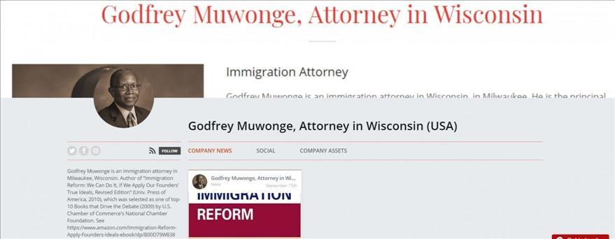 Godfrey Muwonge, immigration lawyer, now offers Flexible
