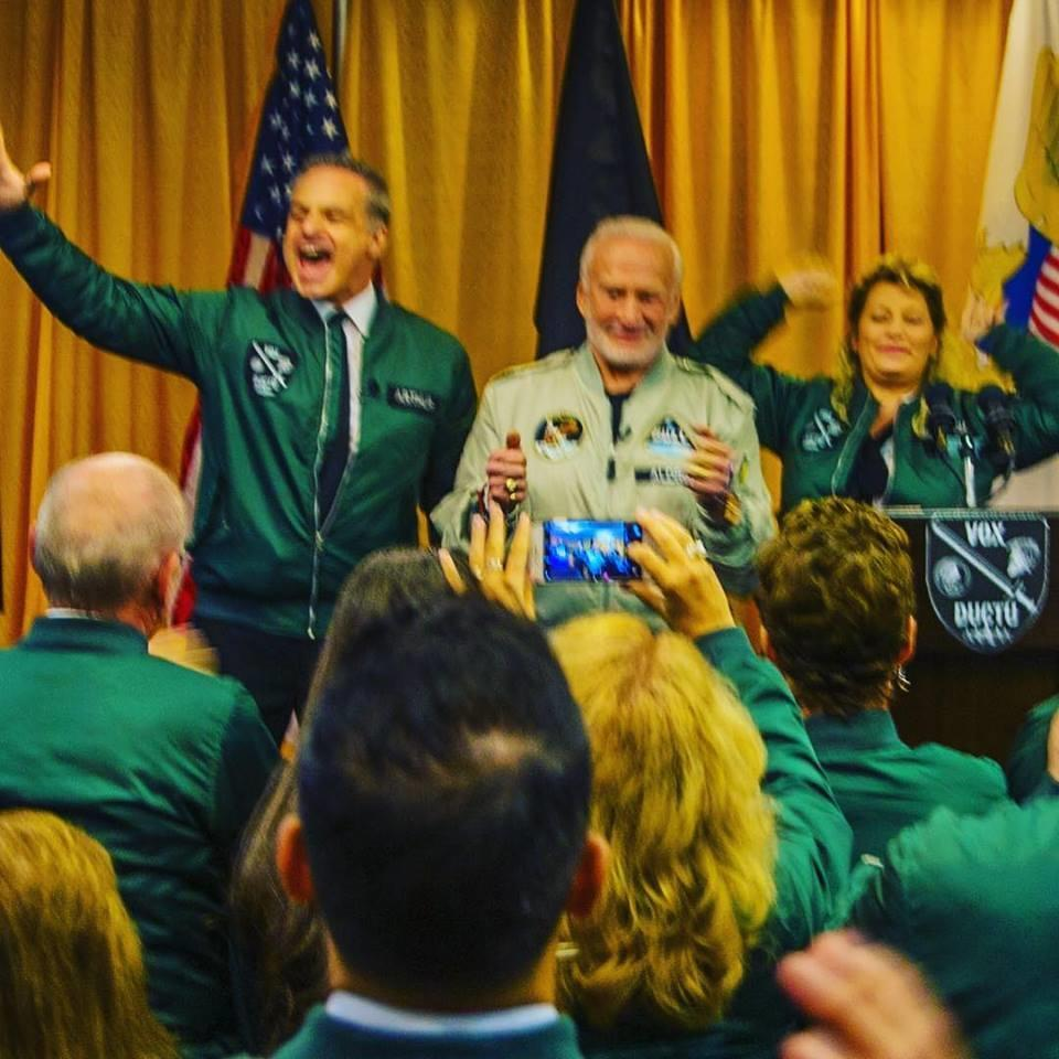 Clint Arthur and Buzz Aldrin at West Point