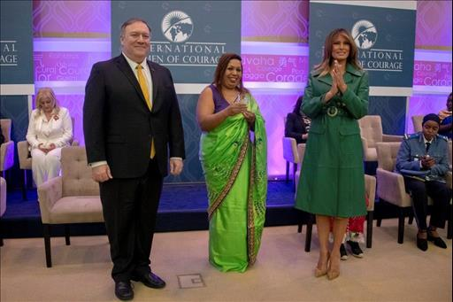 Image result for Sri Lankan Marini de Livera honored with Intl. Women of Courage Awards 2019 Author