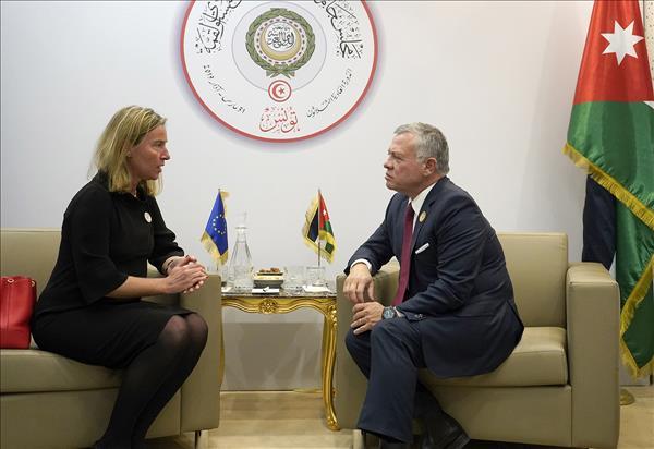 Jordan- King meets EU high representative for foreign affairs and