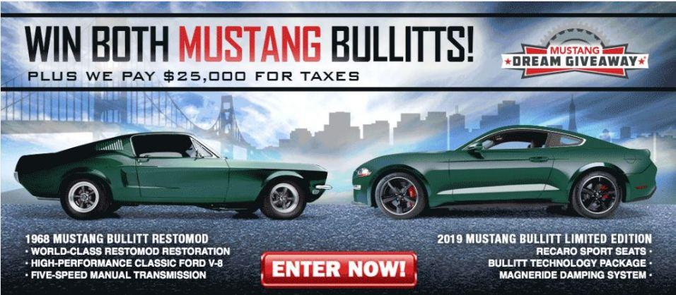 Last Chance To Enter To Win A Pair Matching Ford Mustang