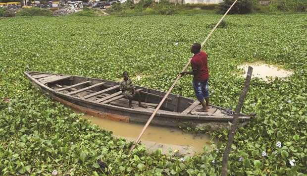 In Nigeria's Lagos, aquatic weed plagues waterways | MENAFN COM