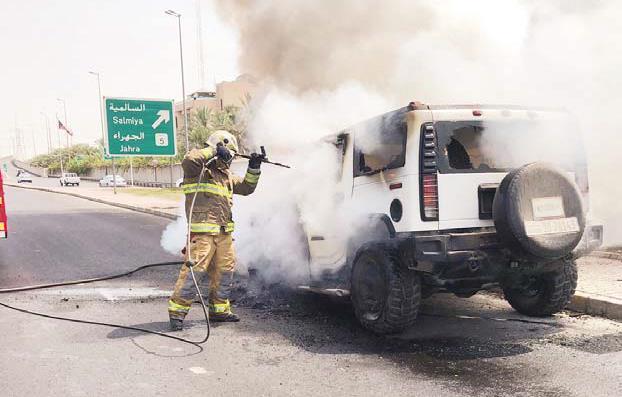Kuwait - Vehicle on fire on airport runway | MENAFN COM