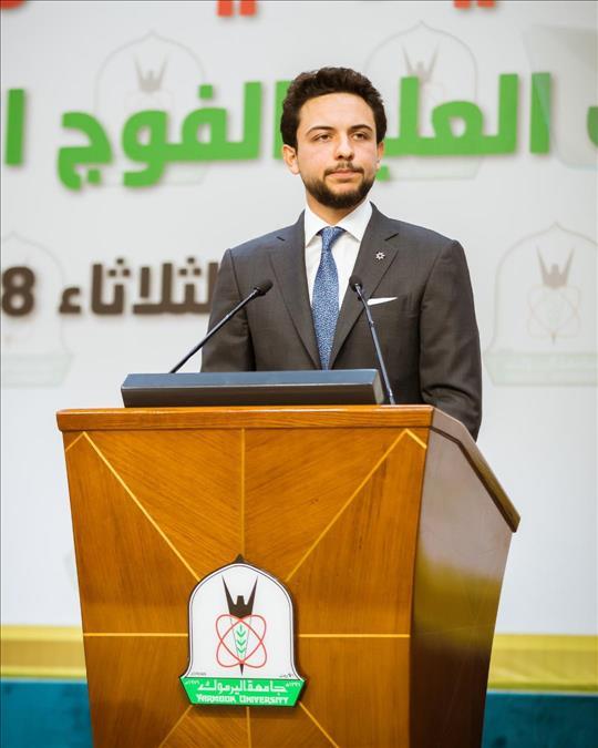 Jordan- Crown Prince attends graduation ceremony of post