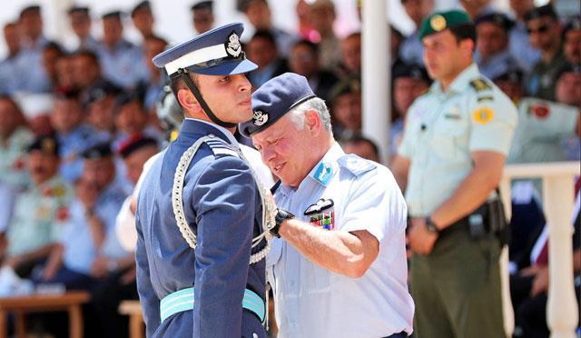 Jordan- King attends graduation of 48th class of air force