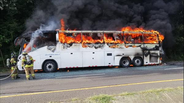 Image result for Bus burning images