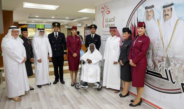Qatar Airways surprises elderly residents of Ehsan | MENAFN COM