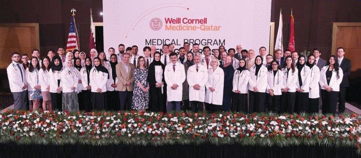 Qatar's future doctors at WMC-Q don the white coat   MENAFN COM