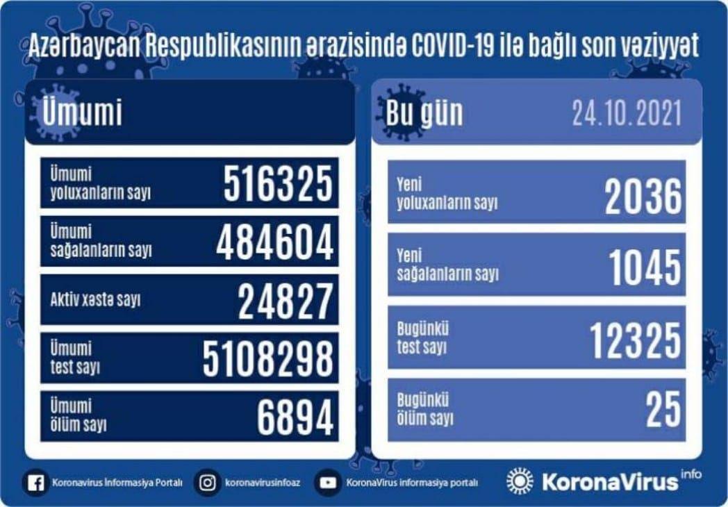 Azerbaijan confirms 2,036 more COVID-19 cases, 1,045 recover...
